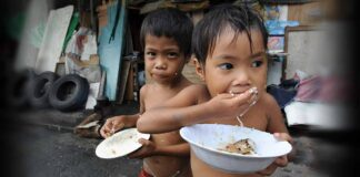 Starving Filipino Children