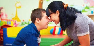 Parent and Autistic Child